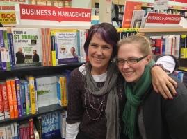 Karen and Siobhan book sighting