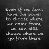 Choose where we go