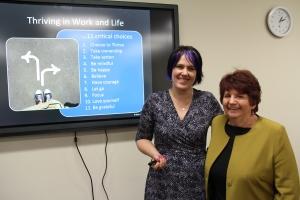 Karen and Nancye at Medicare Local Be Awesome Workshop